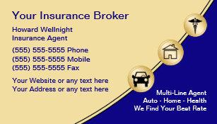 Insurance business cards 1900 insurance business card templates insurance broker business cards reheart Gallery
