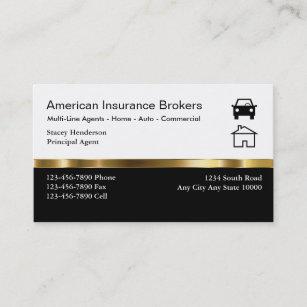 Insurance business cards 1900 insurance business card templates insurance broker business cards colourmoves