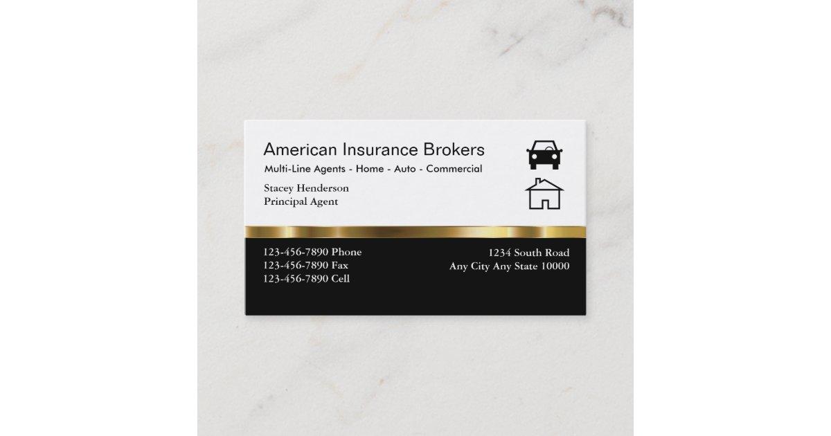 Insurance Broker Business Cards | Zazzle.com