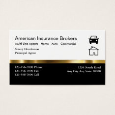 Insurance Broker Business Cards at Zazzle