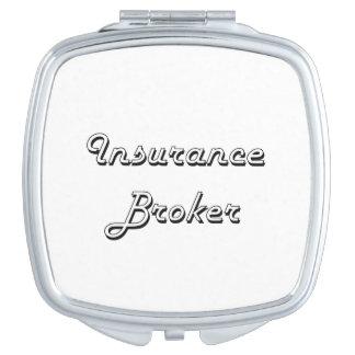 Insurance Broker Classic Job Design Mirror For Makeup