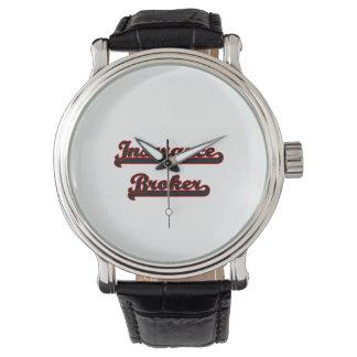 Insurance Broker Classic Job Design Wrist Watch