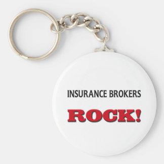 Insurance Brokers Rock Keychain