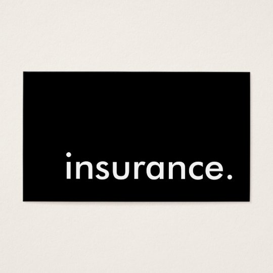 insurance. business card