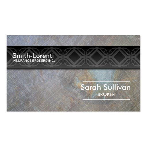Insurance Business Card Rock Texture Professional