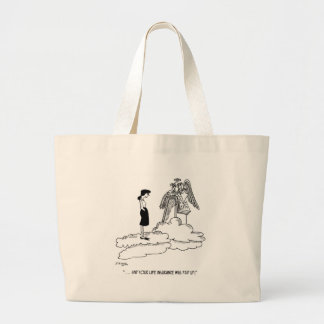Insurance Cartoon 9527 Large Tote Bag