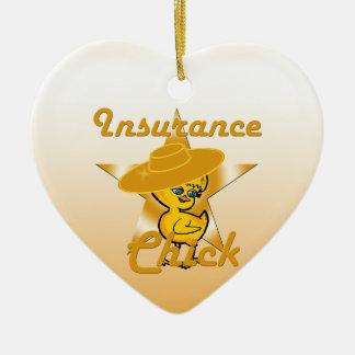 Insurance Chick #10 Ceramic Ornament