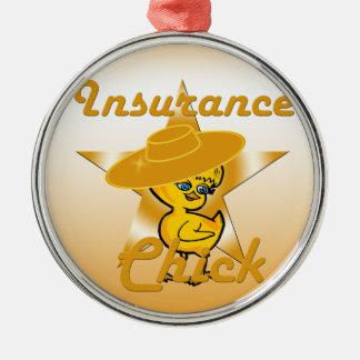 Insurance Chick #10 Metal Ornament