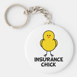 Insurance Chick Keychain