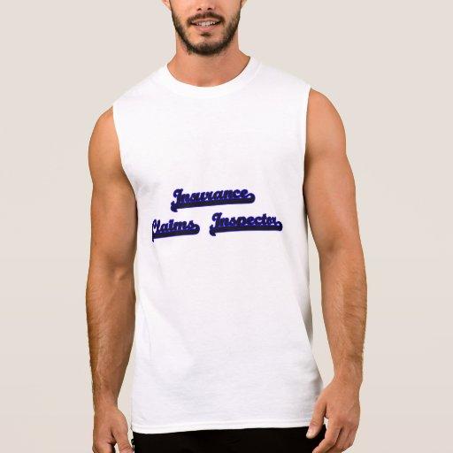 Insurance Claims Inspector Classic Job Design Sleeveless T-shirts Tank Tops, Tanktops Shirts