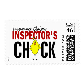 INSURANCE CLAIMS INSPECTOR'S CHICK POSTAGE STAMP