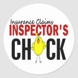 INSURANCE CLAIMS INSPECTOR'S CHICK STICKERS