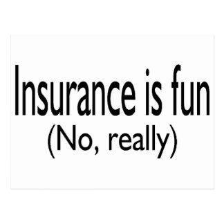 Insurance Is Fun No Really Postcard