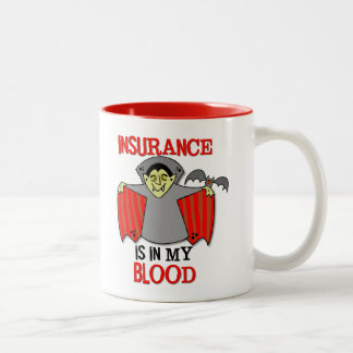 Insurance Is In My Blood 11 oz. red two-tone mug