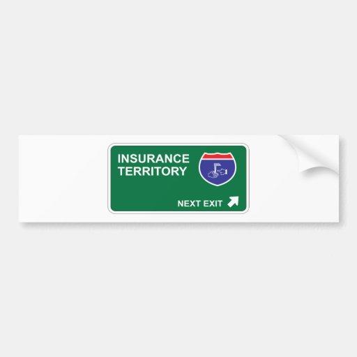 Insurance Next Exit Car Bumper Sticker