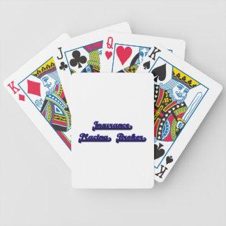 Insurance Placing Broker Classic Job Design Bicycle Playing Cards