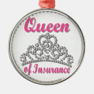 Insurance Queen Metal Ornament