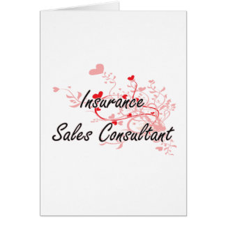 Insurance Sales Consultant Artistic Job Design wit Greeting Card