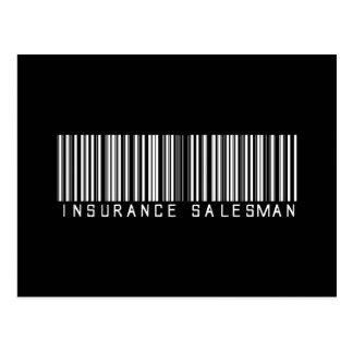 Insurance Salesman Bar Code Postcard