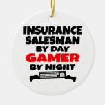 Insurance Salesman Gamer Ceramic Ornament