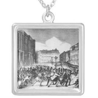 Insurrection in Berlin Square Pendant Necklace