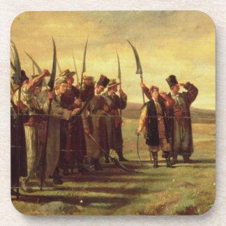 Insurrectionists polacos de la rebelión 1863 acei posavasos de bebidas