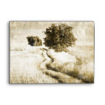 intage country trees western country wedding envelope