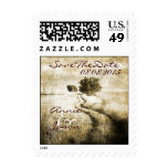 intage country trees western country wedding postage stamp