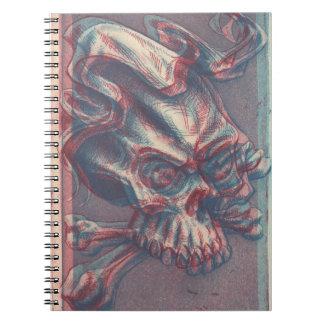 intaglio skull notebook