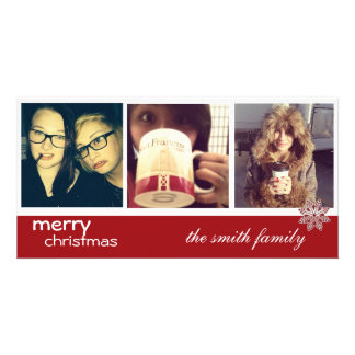 intagram christmas photocards card