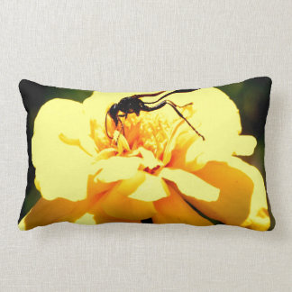 Intake Knowledge wisdom and sweet Bee flower Throw Pillows