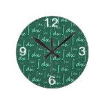 Integral Math Green- Integral Matemáticas Verde Relojes De Pared