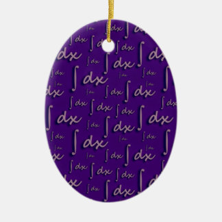 Integral Math Purple - Integral Mathematics Mulber Double-Sided Oval Ceramic Christmas Ornament