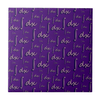Integral Math Purple - Integral Mathematics Mulber Ceramic Tiles