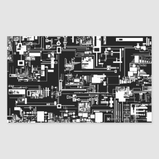 Integrate 1.0 Black Rectangle Sticker