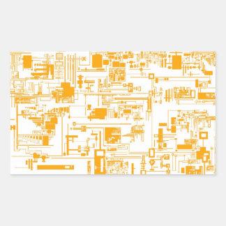 Integrate 1.0 White Rectangle  Sticker