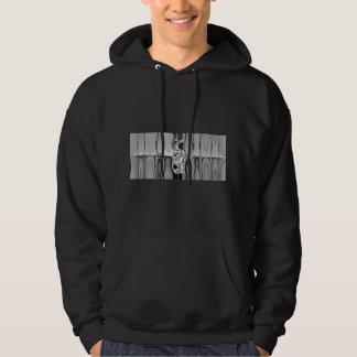 Integrate Black & White Fractal Sweatshirt