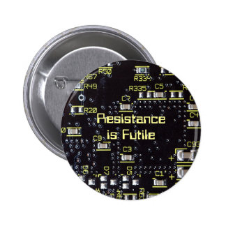 Integrated Circuit Badge Name Tag Button