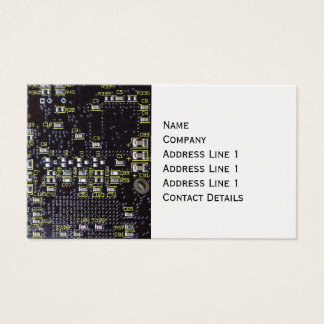 Integrated Circuit Board Bookmark Platinum Finish Business Card