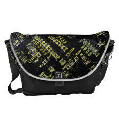 Integrated Circuit Board Large Messenger Bag at Zazzle