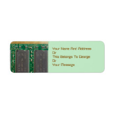 Integrated Circuit Board Return Address Labels at Zazzle