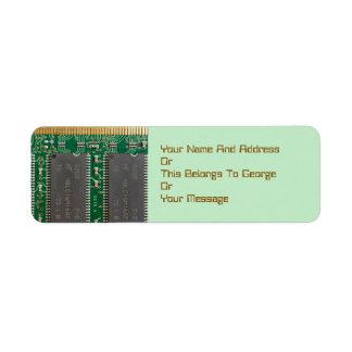 Integrated Circuit Board Return Address Labels