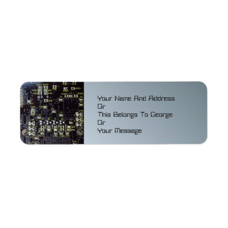 Integrated Circuit Board Return Address Labels