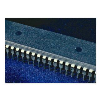 Integrated circuit (microprocessor) 5x7 paper invitation card