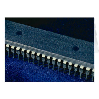 Integrated circuit (microprocessor) greeting card