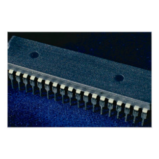 Integrated circuit (microprocessor) print