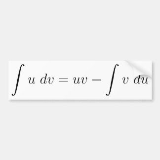 Integration by parts bumper sticker