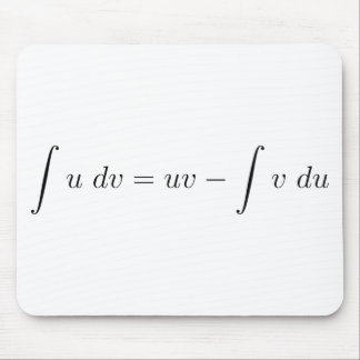 Integration by parts mouse pads