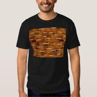 integration of random and regular wall brick t-shirt