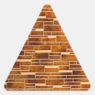 integration of random and regular wall brick triangle sticker